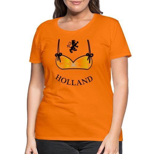 Voetbal Bikini Nederlandse Leeuwin Oranje - Vrouwen Premium T-shirt
