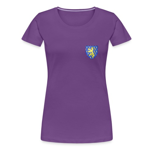 Blason de la Franche-Comté avec fond transparent - T-shirt Premium Femme