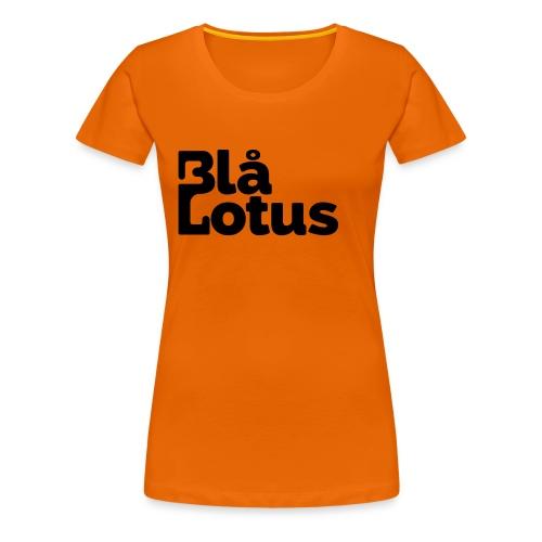 Blå Lotus_logo - Premium-T-shirt dam