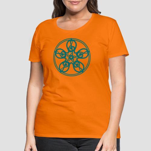 Treble Clef Mandala (teal) - Women's Premium T-Shirt