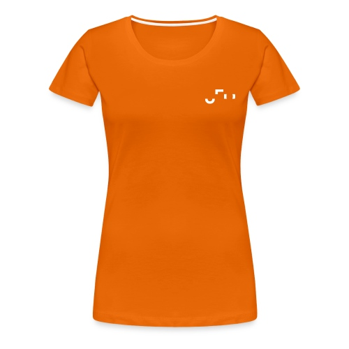 Orange Shirt Small White Pocket Logo Front & Back - Frauen Premium T-Shirt