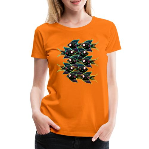 A World Full of Smiling Fishes - Women's Premium T-Shirt