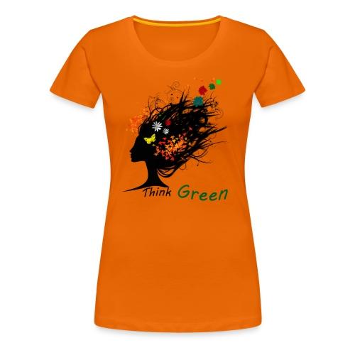 think_green - Maglietta Premium da donna