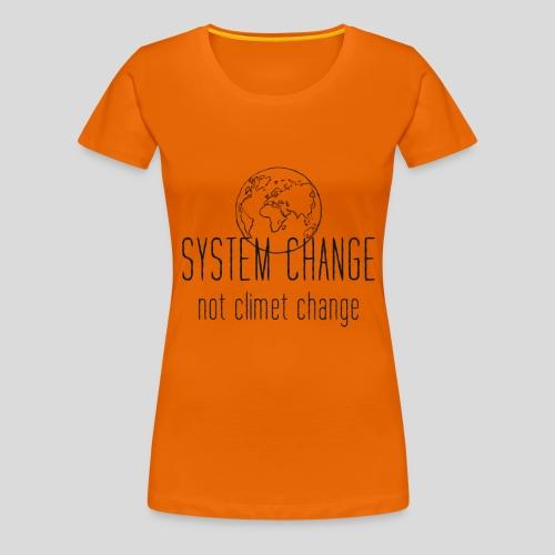 Fridays for future Erde System change - Frauen Premium T-Shirt
