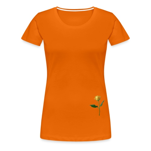 BD YELLOW ROSE - Frauen Premium T-Shirt