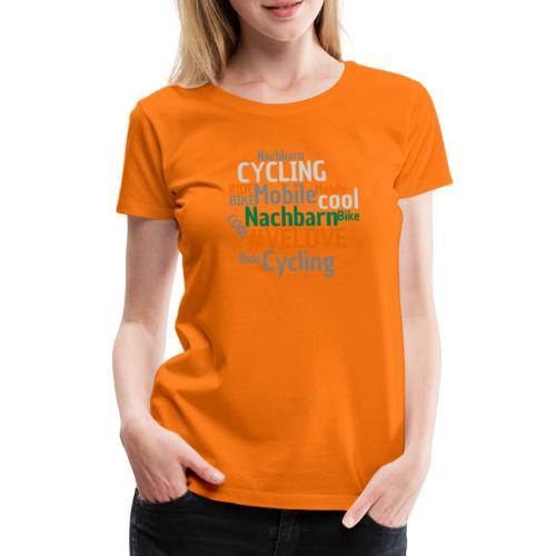 Mobile Nachbarn - WordCloud - Frauen Premium T-Shirt