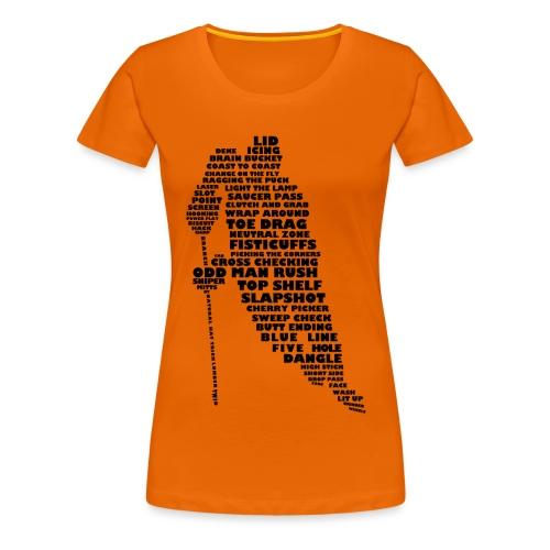 Language of Hockey (Black) - Women's Premium T-Shirt