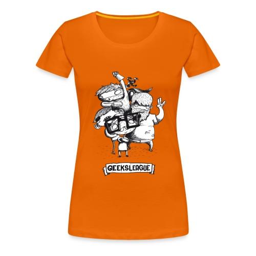 Illu Geeksleague - T-shirt Premium Femme