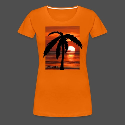 Sunset Palm 0PD20 - Women's Premium T-Shirt