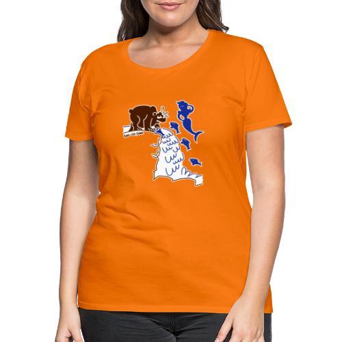 Surprised Bear - Women's Premium T-Shirt
