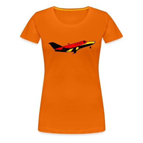 flugzeug Fliegen Flugzeug - Frauen Premium T-Shirt