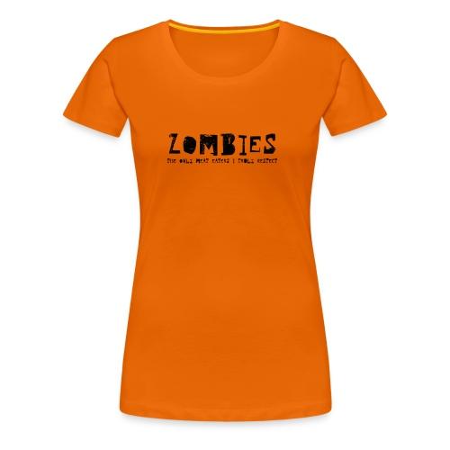 zombies1 svart text - Premium-T-shirt dam