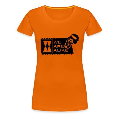 003defetiketzwart - Vrouwen Premium T-shirt