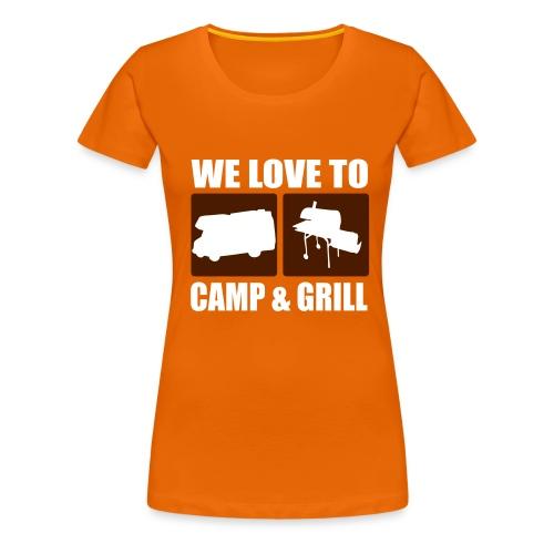 camp & grill - Frauen Premium T-Shirt