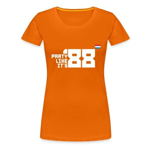 Party like it s 88 Dutch - Vrouwen Premium T-shirt