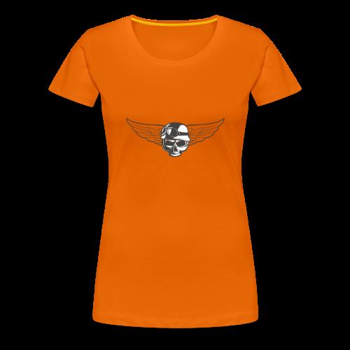 Biker skull - Women's Premium T-Shirt