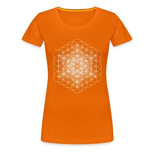 metatrons cube white - Women's Premium T-Shirt
