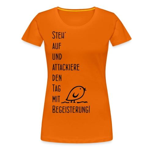 Tweetler Begeisterung - Frauen Premium T-Shirt