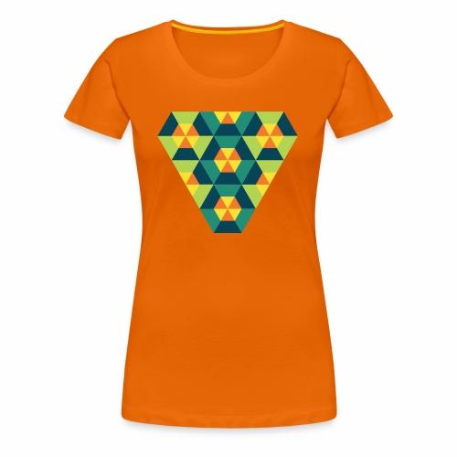 Triangular Geometry - Dame premium T-shirt
