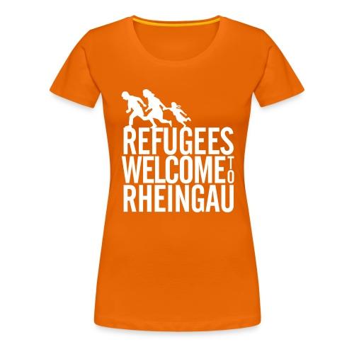 Refugees Welcome to Rheingau Handyhülle 4/4s Rosa - Frauen Premium T-Shirt