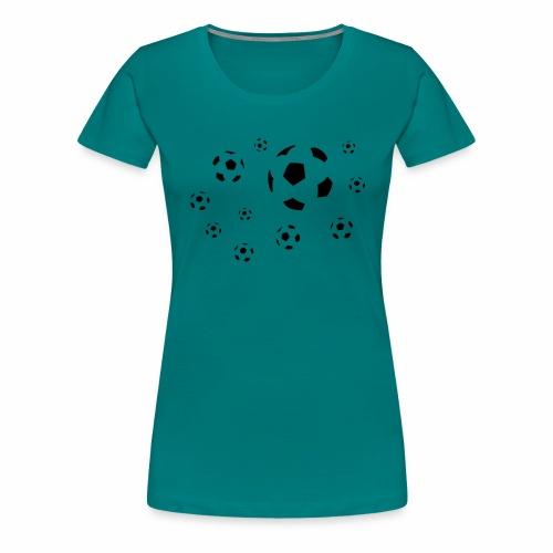 Fußball dreifarbig - Frauen Premium T-Shirt