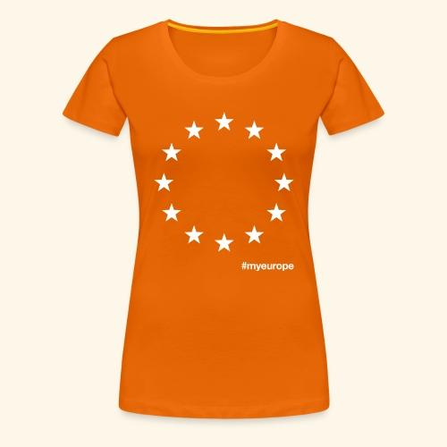#myeurope white - Frauen Premium T-Shirt