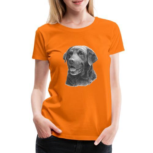 labrador bw - Dame premium T-shirt