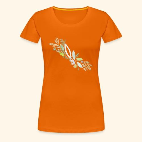 Kra utergarten Ausschnitt - Frauen Premium T-Shirt