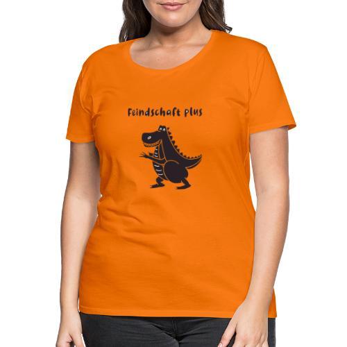 feindschaft plus, dinosaurier , schwarz - Frauen Premium T-Shirt
