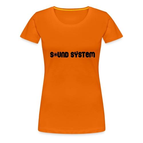 Sound System - T-shirt Premium Femme