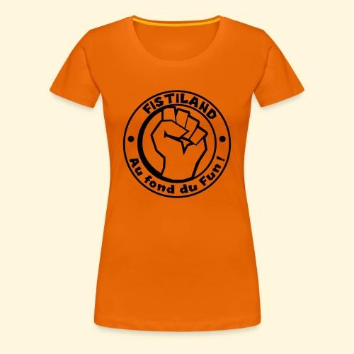 logo Fistiland Noir - T-shirt Premium Femme