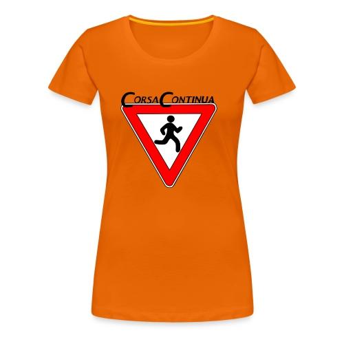 Logo Corsa Continua - Maglietta Premium da donna