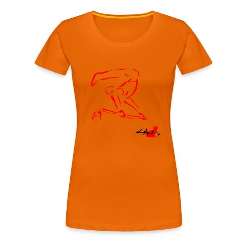 GINNASTA ALLA SBARRA ROSSO - Maglietta Premium da donna