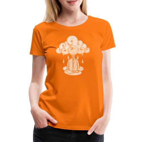 nuage, lundi nuage pluie, le lundi c'est nul... - T-shirt Premium Femme