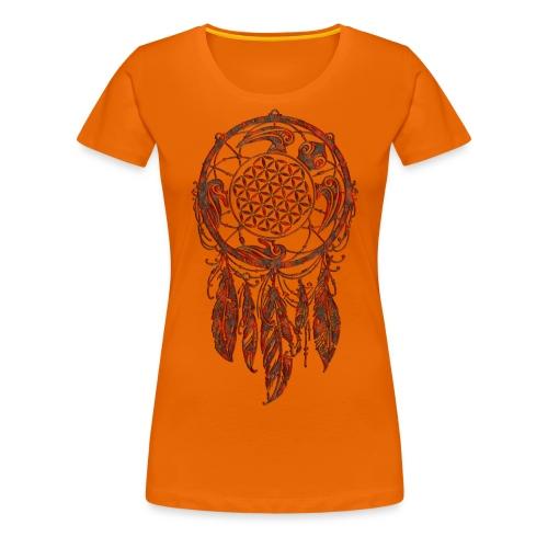 Blume des Lebens Traumfänger Schildkröte - Frauen Premium T-Shirt