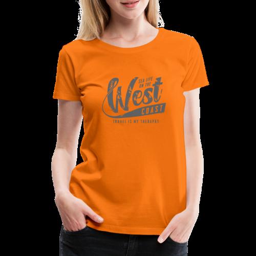 West Coast Sea surf clothes and gifts GP1306B - Naisten premium t-paita