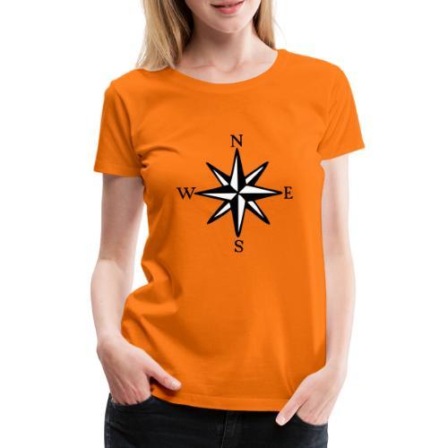 Windrose mit Himmelsrichtungen Segeln Segler - Frauen Premium T-Shirt