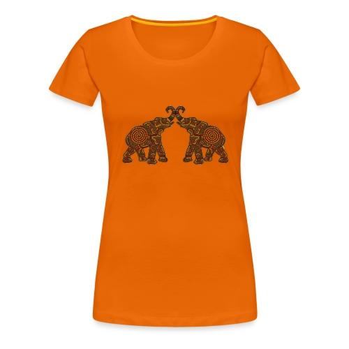 Afrikanische Elefanten - Frauen Premium T-Shirt