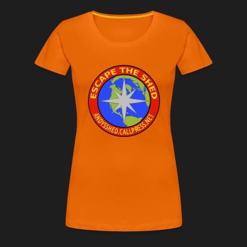Escape The Shed Badge - Women's Premium T-Shirt