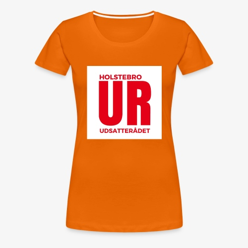 UR stor logo - Dame premium T-shirt