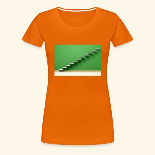 T-Shirts green steps - Vrouwen Premium T-shirt