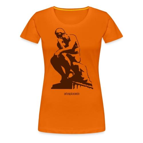 Auguste Rodin, il pensatore - Maglietta Premium da donna