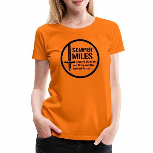 Semper Miles 01 Logo - Premium-T-shirt dam