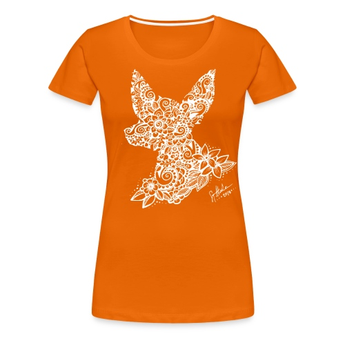 Mandalakoira Tiny White - Naisten premium t-paita