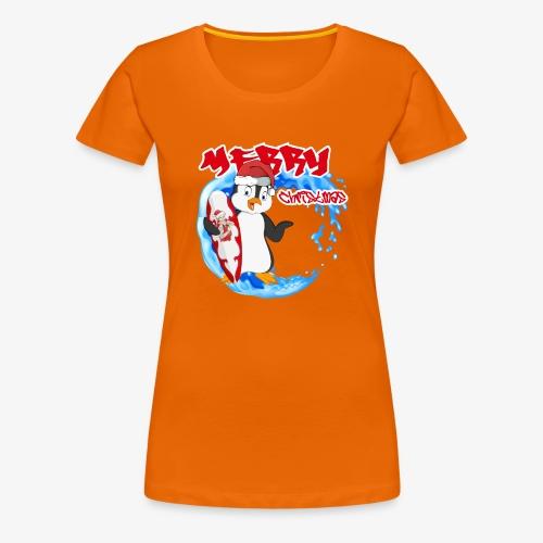 Pinguin Weihnachten - Frauen Premium T-Shirt