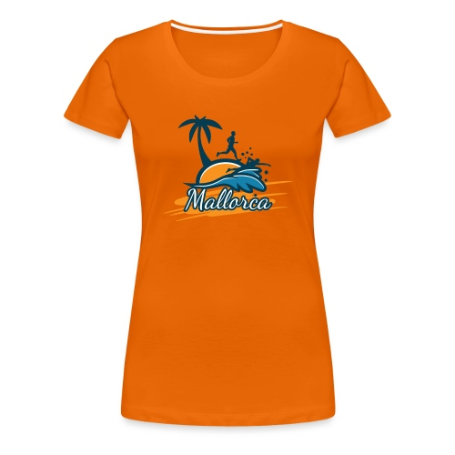 Joggen auf Mallorca - Sport - sportlich - Jogging - Frauen Premium T-Shirt