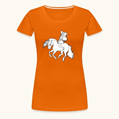 Monter une sorcière sexy sur une licorne. - T-shirt Premium Femme