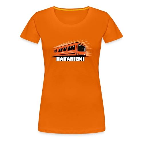 13- METRO HAKANIEMI - HELSINKI - LAHJATUOTTEET - Naisten premium t-paita