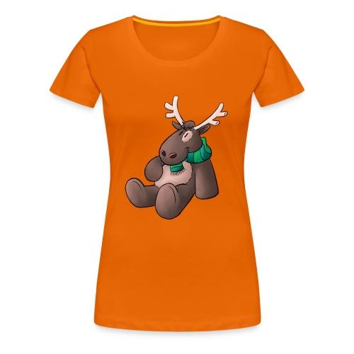 Elch - Kuschelelch sitzend - Frauen Premium T-Shirt
