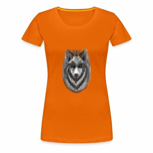 Foxy Wolf by Jon Ball - Women's Premium T-Shirt